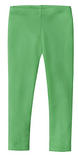 (City Threads Girls' Leggings 100% Cotton for School Uniform Sports Coverage or Play Perfect for Sensitive Skin or SPD Sensory Friendly Clothing, Elf, 18/24)