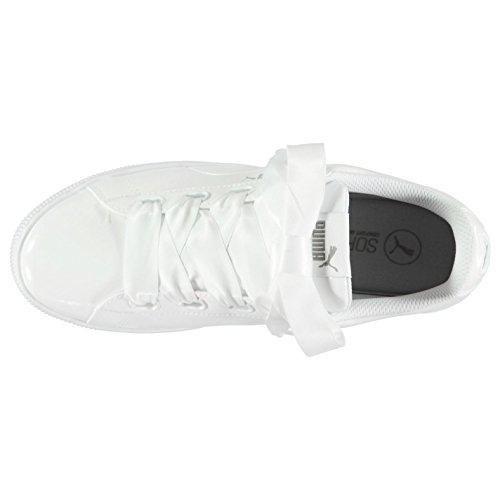 pour Baskets ruban Sneakers Blanc Chaussures Sports Baskets femme Puma Officiel Vikky XZztq