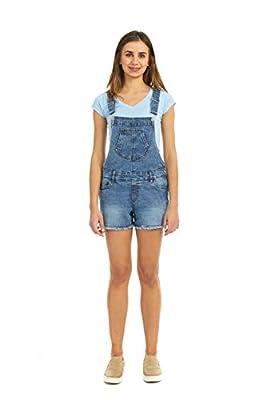 Suko Jeans Women's Denim Overalls – Cutoff Shorts – Stretch