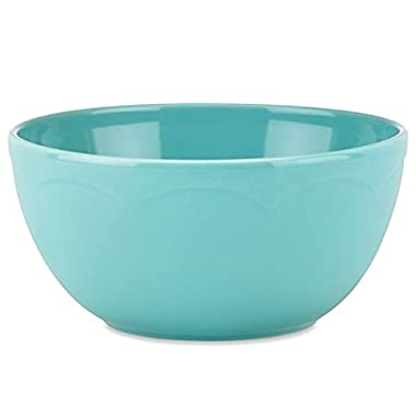 Kate Spade All In Good Taste Turquoise Sculpted Scallop Soup and Cereal Bowl