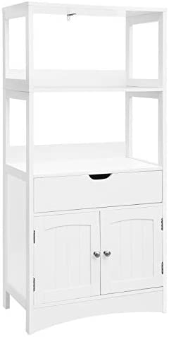 picture of VASAGLE Bathroom Storage Cabinet - Drawer, 2 Open Shelves and