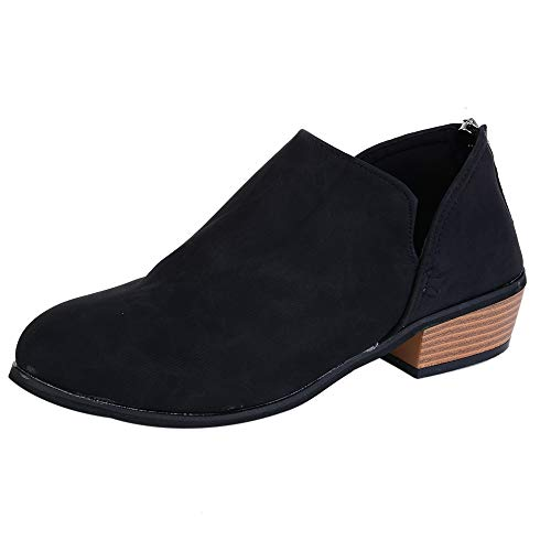 En Talon Épais Femme Pu Noir Ymysfit Mode Chaussures Court Bottes Automne Bas Martin À 818YwZxzq