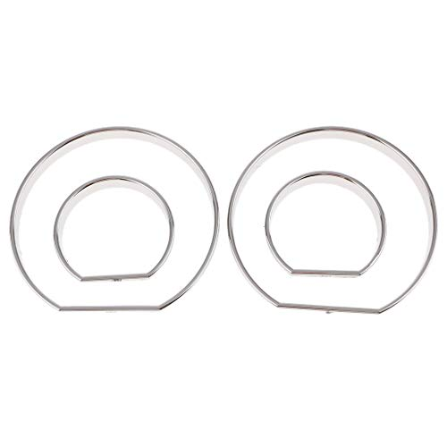 B Blesiya For BMW E46 M3 00-06 Chrome Speedo meter Gauge Dial Rings Bezel Trim AC Tech:
