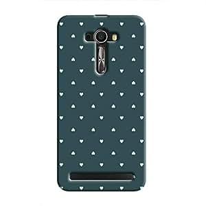 Cover It Up - Tiny Green Hearts Zenfone SelfieHard Case