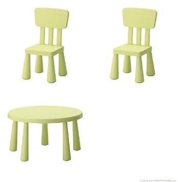 Ikea Conjunto De Mesa Y Sillas.Mammut Ikea Conjunto Infantil De Mesa Y 2 Sillas Color Verde