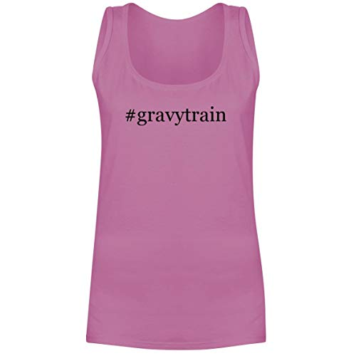 - The Town Butler #gravytrain - A Soft & Comfortable Hashtag Women's Tank Top, Pink, Small