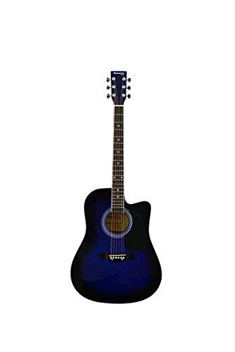 Huntington GA41C-BLS 41-Inch Acoustic Cutaway Guitar, Blue Sunburst
