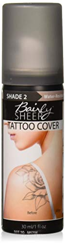 Bairly Sheer High Intensity Body Blemish & Tattoo Cover, Shade 2