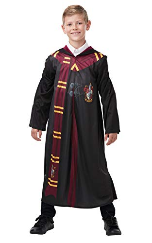 Rubie's Official Harry Potter Gryffindor Printed Robe Costume, Childs Size Age 9-10 (Ron Weasley Costume Uk)