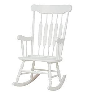 Bella Adriana Classic Cottage Rocking Chair, White