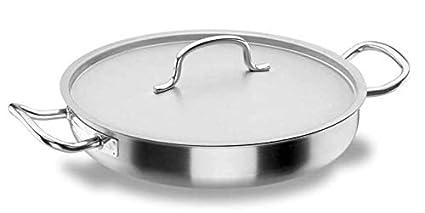 Lacor Chef Classic 50645 - Paellera con Tapa, Acero Inoxidable 18/10, 45