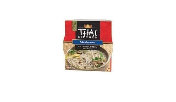 Amazon Com Thai Kitchen Rce Ndl Bwl Mushroom Wfm   Ounce Pack Of  Prepared Noodle Bowls Grocery Gourmet Food