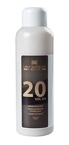 Ugly Duckling Los Angeles Professional 20 Volume (6%) CREAM DEVELOPER 33 oz (1 liter) For salon use, large size. For 1-2 levels of lift. Made in Europe (Level 20 Developer compare prices)
