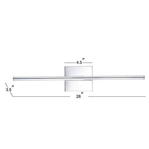 Interior Lighting JONATHAN Y JYL7022A Makena 28″ Dimmable Integrated Metal Wall Sconce Minimalistic,Modern,Contemporary 3000K LED Bulbs for Bedroom Livingroom Bathroom Hallway, Chrome modern wall sconces