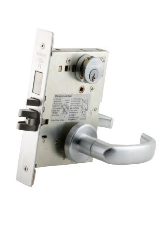(Schlage L9453P 17A 626 C123 Keyway Series L Grade 1 Mortise Lock, Entrance Function, C123 Keyway, 17A Design, Satin Chrome Finish)
