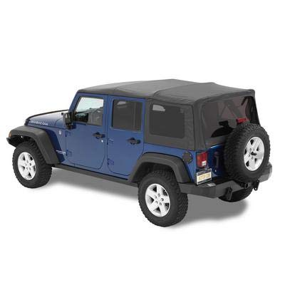 Bestop 54723-35 Black Diamond Supertop NX Complete Replacement Soft Top w/ Tinted Windows for 2007-2018 Jeep Wrangler Unlimited ()