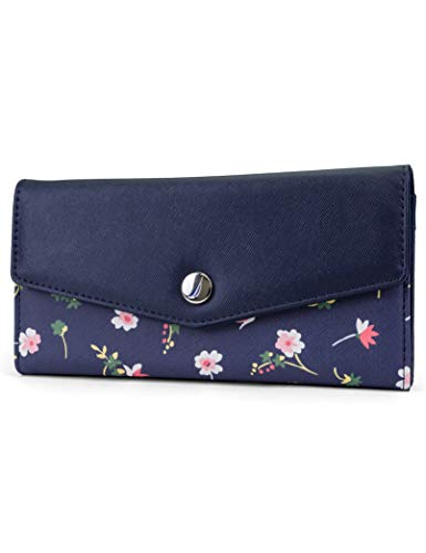 (Nautica Money Manager RFID Women's Wallet Clutch Organizer (Vintage Floral))