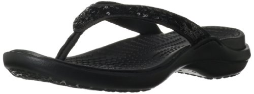 Flip Crocs flop Capri Black Sequin Black 4wxRFSw