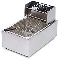 Bhavya enterprises Steel Electric Deep Fryer (Silver) - 8 ltr