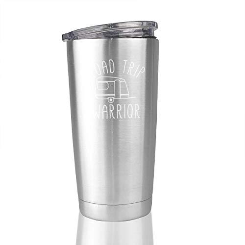 Road Trip Warrior 20 Oz Stainless Steel Vacuum Insulated Tumbler Travel Mugs Custom Gifts