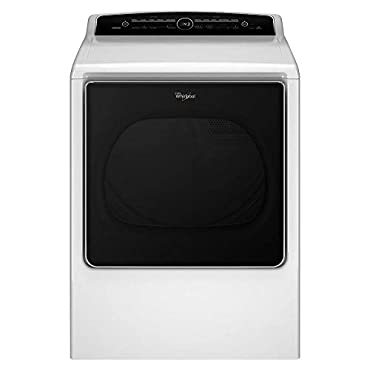 Whirlpool WGD8500DW Cabrio High Efficiency White Gas Steam Dryer