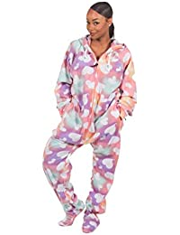 47e106e38f9 Forever Lazy Footed Adult Onesies