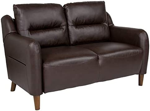 Flash Furniture Newton Hill Upholstered Bustle Back Loveseat