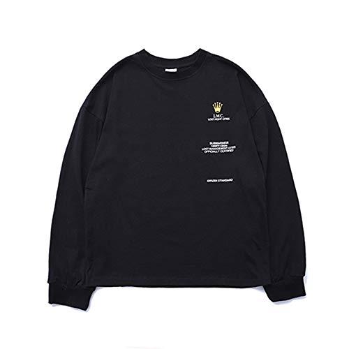 Maniche Go Easy Stampata Black Fashion Uomo In Oversize Lunghe Da Shopping shirt Street A T Manica Lunga wXdxTqpd