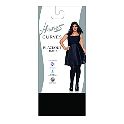 Hanes Women's Plus Size Curves Blackout Tights at Women's Clothing store
