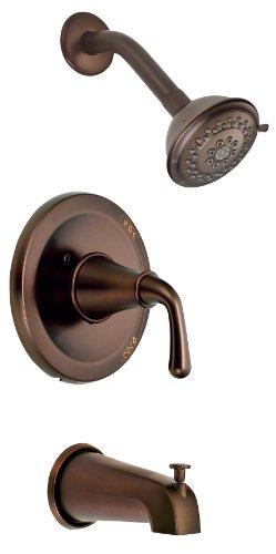 Danze D500056RBT Bannockburn Single Handle Tub and Shower Trim Kit with 3-Function Showerhead, Oil Rubbed Bronze
