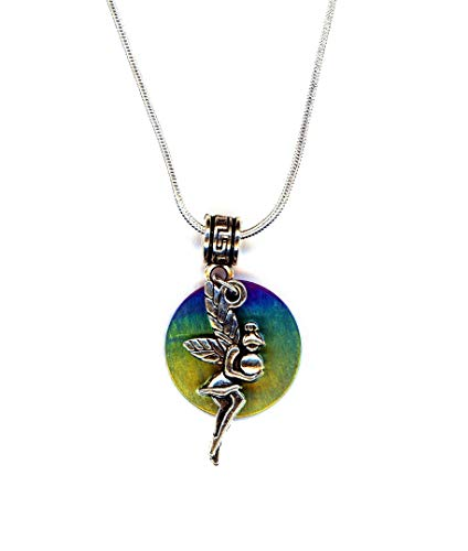 Handmade Fairy and the Moon Necklace on Silver-plated 20