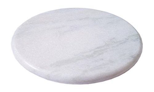 iTrends Mirror Finish Marble Chakla Roti / Chapati Maker Roller Circular Round Board (Circular Marble)