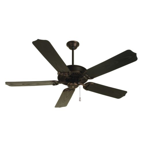 Craftmade PF52OB 52-Inch Porch Fan with B552S-OBR Outdoor, Oiled Bronze - Collection 52' Ceiling Fan