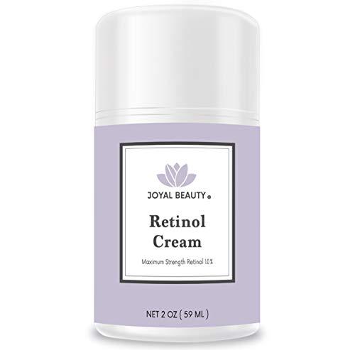 Joyal Beauty Retinol Moisturizer Cream for Face and Eye. Enhanced with Hyaluronic Acid, Squalane, Vitamin B3, B5, E, Argan Oil. Best Night Anti Ageing Moisturizer for Wrinkles, Fine Lines. 2 oz