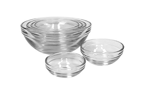 Anchor hocking piece glass prep bowl set import it all
