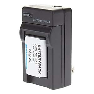 LIUTAO- 2x 1600mAh de la batería np-bx1 bx1 + cargador para Sony DSC-RX100 RX100