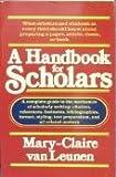 A Handbook for Scholars, Mary-Claire Van Leunen, 0394733959