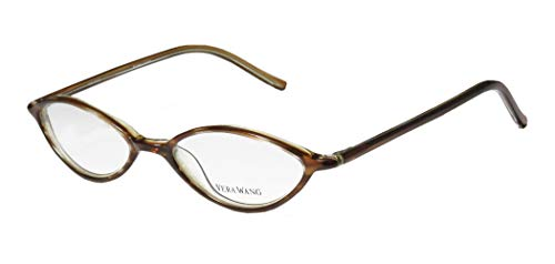 Vera Wang V18 Womens/Ladies Rx Ready Fashionable Designer Full-rim Eyeglasses/Glasses (47-17-133, Brown)