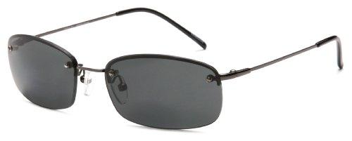 Scojo Sport FX 40077 Polarized Rimless Reading Glasses,Gunmetal Frame/Grey Lens,56 mm
