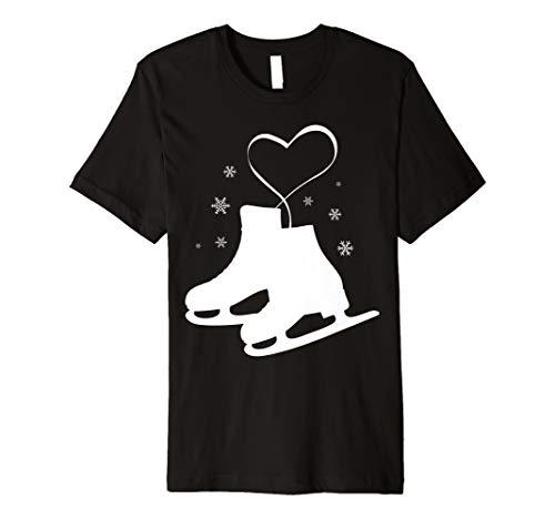 Figure Ice Skating Heart Tshirt - Figure Skater Love Gift ()
