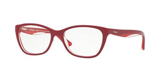 Vogue VO2961 Eyeglass Frames 2494-51 - Topaz Red/Red/Opal - Eyeglasses Vogue Prescription