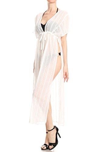 Anna Davanti Bagno Costume Sexy Del Delle Spaccato Da Crochet Bianco Bikini kaci Donne Coprire zBBqxv