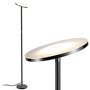 Floor Lamp,Uplighter Floor Light,LED Dimmable Tall Standing Modern Pole Light,TECKIN 20W Daylight Floor Lights for Living Rooms & Bedrooms,Long Lifespan High Lumens