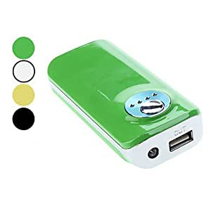 Fashionble & Portable Power Bank for Smart Phone, iPad, iPhone4 4S (Assorted Color, 5600mAh) , Black