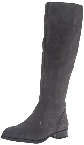 Dark Nicolah Women's Nine High Boot Grey Suede West Knee wEaqFE0U