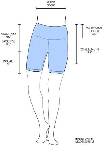 "90 Degree By Reflex - High Waist Power Flex Biker Shorts with Side Pockets - 5"", 7"", 9"""