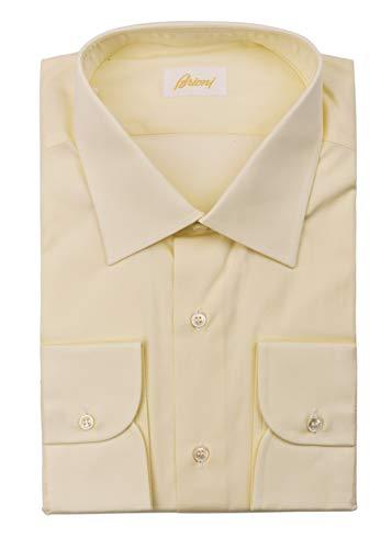 (Brioni New Ivory Fano Twill Dress Shirt REG FIT 100% Cotton EU38/US15 RTL$650)