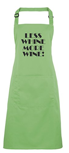 (Less Whine, More Wine!, Printed Apron - Apple)