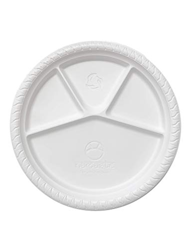 Namaste 25 Party Dinner Plates,12.5 inch Large Size, Eco-friendly Compostable Microwave Safe Biodegradable, Heavy ()