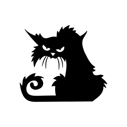 Vinyl Wall Art Decal - Angry Black Cat - 15
